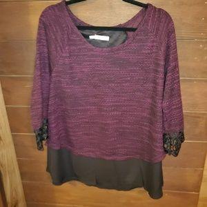 Maurices Purple Dress Shirt